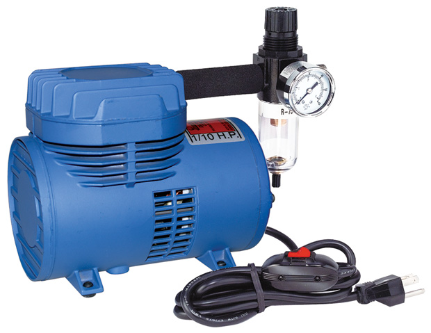 Paasche Model D500SR Air Compressor (1/10 hp.) with Switch & Regulator
