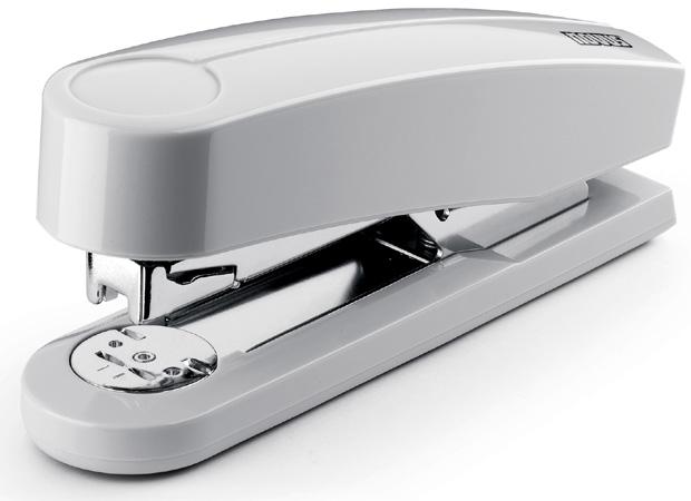 Dahle B4 Compact Executive Stapler: Grey, 2 5/8 Inch Throat Depth