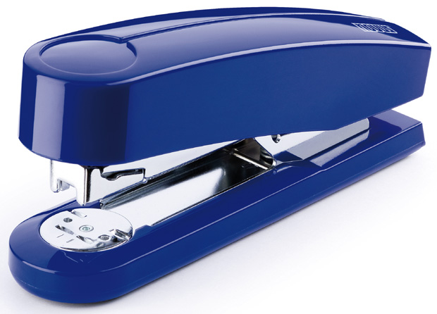 Dahle B4 Compact Executive Stapler: Blue, 2 5/8 Inch Throat Depth