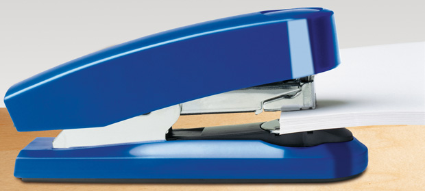 Novus Professional Flat Clinch Staplers can fasten up to 50 sheets of paper at a time.