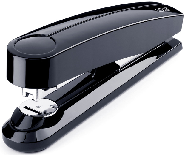Dahle B5 Flat Clinch Executive Stapler: Black, 3 5/8 Inch Throat Depth
