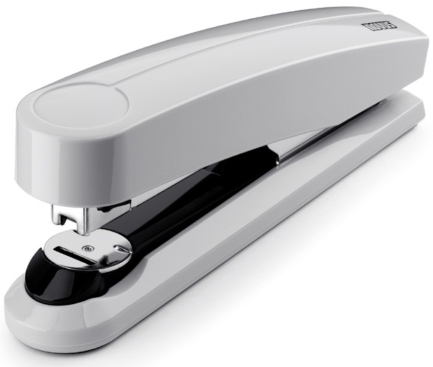 Dahle B5 Flat Clinch Executive Stapler: Grey, 3 5/8 Inch Throat Depth