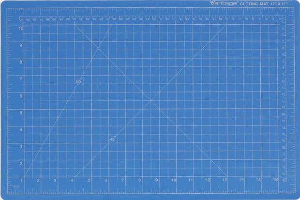 Dahle Vantage Self Healing Cutting Mat: Blue, 18 x 24 Inches Cut Size