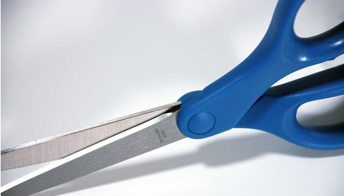 Stainless steel blades resist rust and maintain a sharp cutting edge.