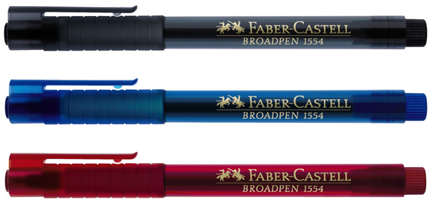 Faber-Castell Fineliner Broadpen 1554: Blue, Pack of 10