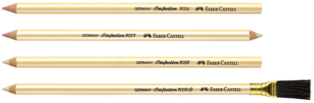 Faber-Castell 7058 Perfection Eraser Pencil: Pack of 12