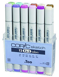 Copic Sketch Marker: EX-5, 12-Color Set