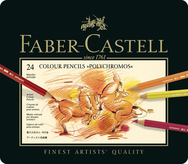 Polychromos Artists Colour Pencil: Tin of 24