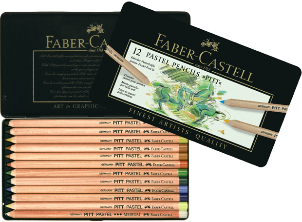 Faber-Castell PITT Pastel Pencil: Tin of 12