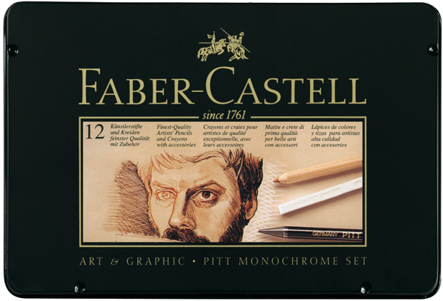 Faber-Castell Monochrome Set: Tin of 25