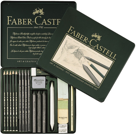 Faber-Castell Graphite Set: Tin of 18