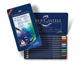 Faber-Castell Art Grip Aquarelle Studio Quality Watercolour Pencil: Tin of 12