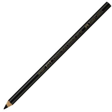 Faber-Castell PITT Oil Free Black Charcoal Pencil: Hard, Pack of 12