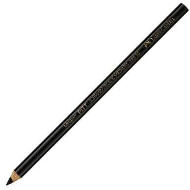 Faber-Castell PITT Oil Free Black Charcoal Pencil: Medium, Pack of 12