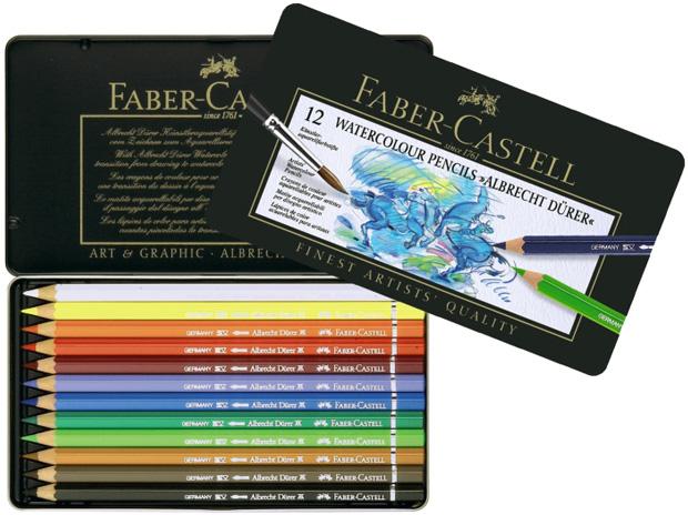 Faber-Castell Albrecht Durer Artists\' Watercolour Pencil: Tin of 12