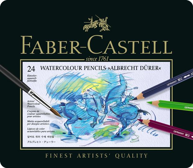 Faber-Castell Albrecht Durer Artists\' Watercolour Pencil: Tin of 24