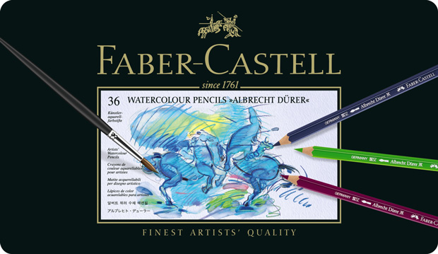 Faber-Castell Albrecht Durer Artists\' Watercolour Pencil: Tin of 36
