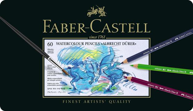 Faber-Castell Albrecht Durer Artists\' Watercolour Pencil: Tin of 60