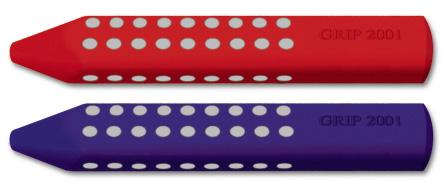 Faber-Castell GRIP 2001 Eraser: Red & Blue Assorted, Pack of 12