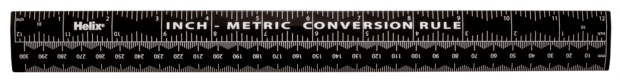 "Helix 12"" Conversion Ruler"