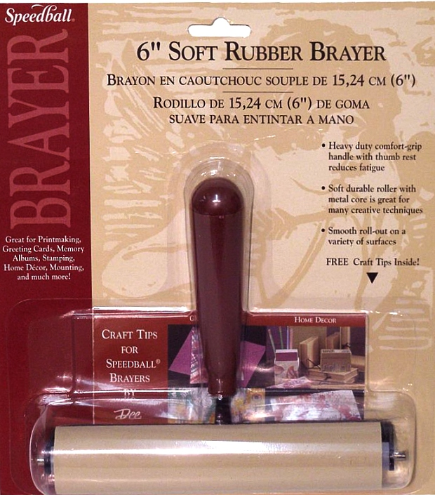 Speedball Deluxe Soft Rubber Brayer: 4""