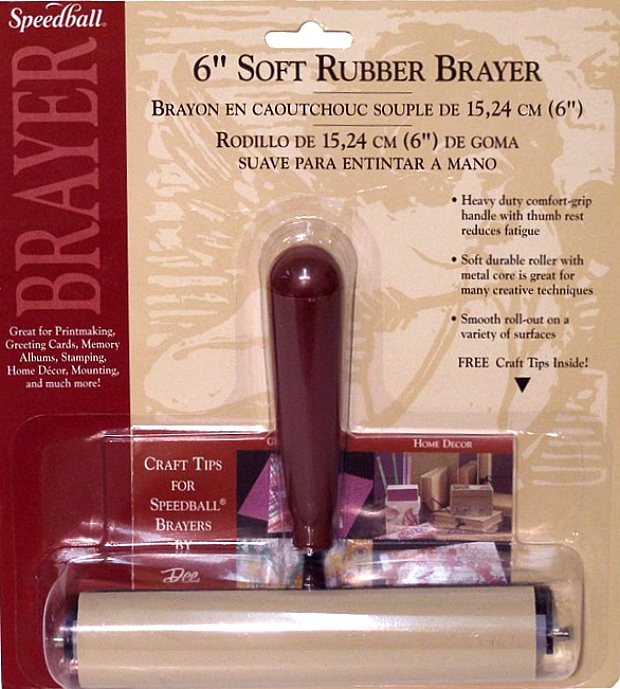 Speedball Deluxe Soft Rubber Brayer: 6""