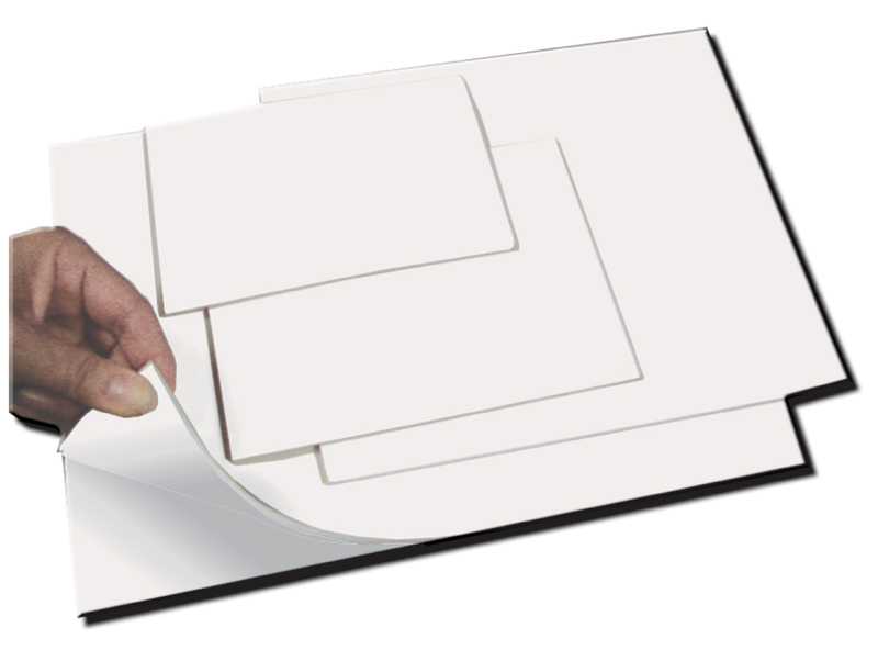 "Inovart Smooth-Cut Printing And Stamping Plates With Repositionable Adhesive Backing 1/8"" Thick x 12"" x 18"" - 2 per pack"