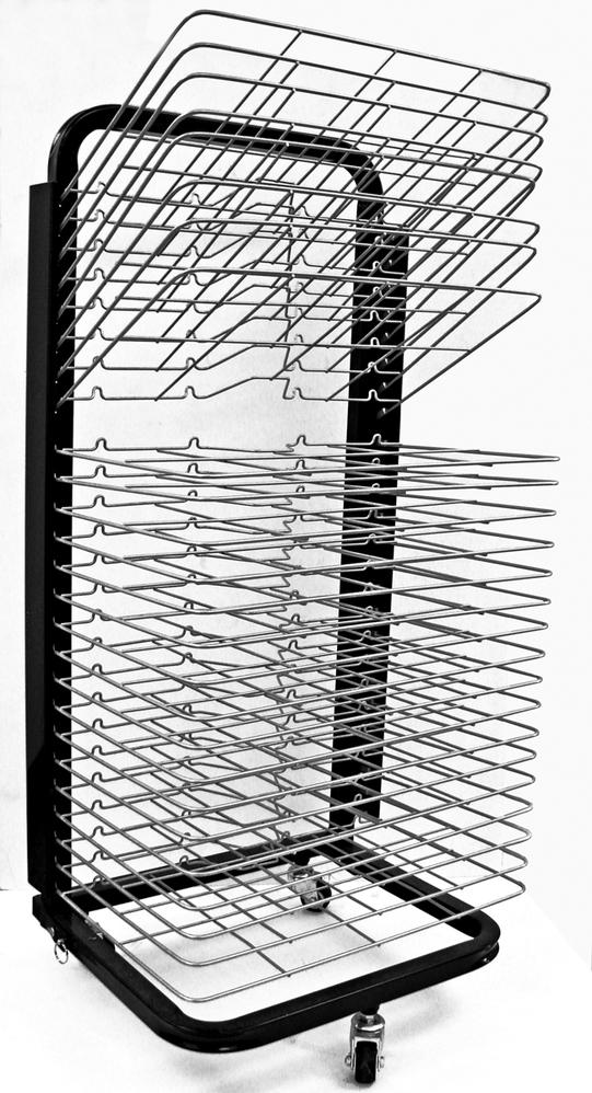 Inovart Mobile Floor Rack with Flip Shelves