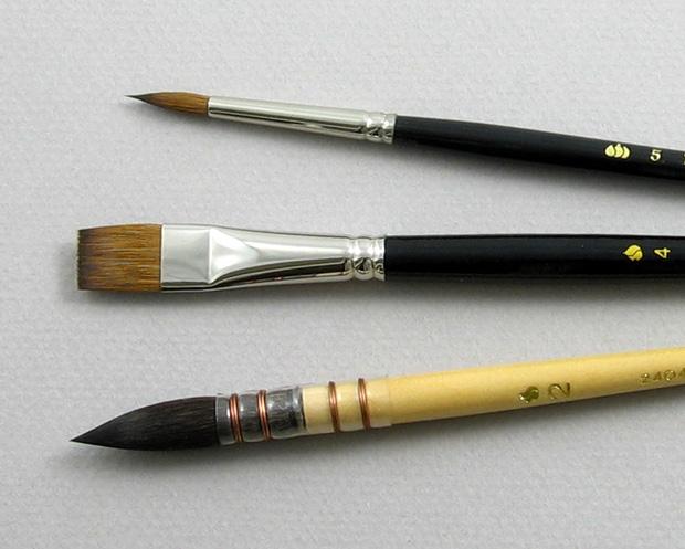 Apprentice Set of 3 Art Brushes: Head Shot