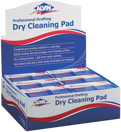 Alvin Dry Cleaning Pads Display 12Pc