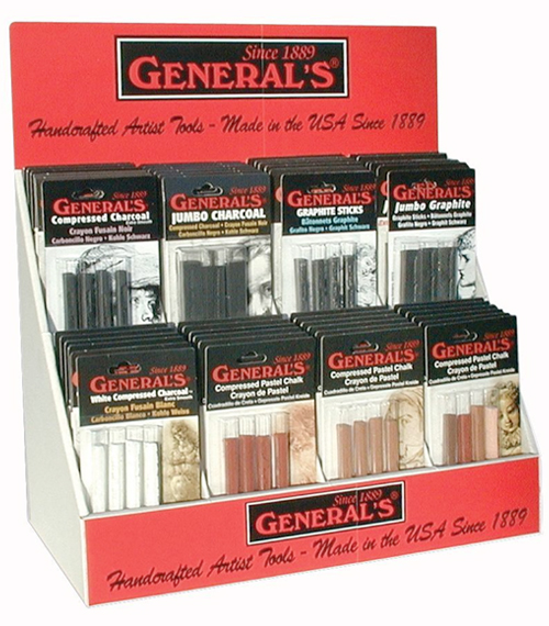 Alvin General's® Compressed Art Sticks Display