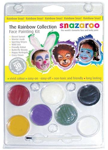 Snazaroo Face Painting Clam Shell Kit: Rainbow