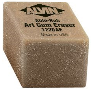 ALVIN® Able-Rub Art Gum Eraser Small 24/Box