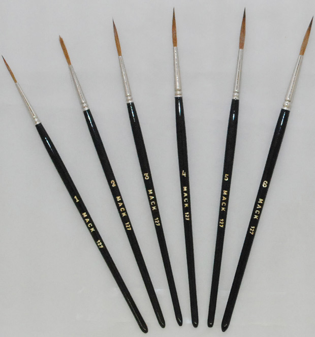 Mack Pure Kolinsky Sable Script Brush: Hair Length 13/16 inches, Size-3