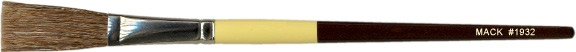 Mack Mixed Grey Hair Stroke Lettering Brush Series 1932: Lengths 1-3/4 inches, Size-3/4 inches