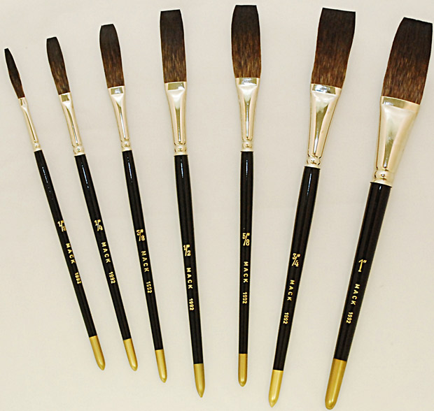 Mack Soft Stroke Lettering Brush Series 1992: Hair Lengths 1-15/16 inches, Size-1 inches