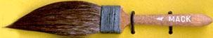 Mack Squirrel Hair Sword Striper Series 20: Width of Head 14.28 mm, Size - 4