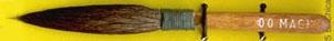 Mack Squirrel Hair Dagger Striper Series 30: Width of Head 5.55 mm, Size - 00