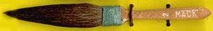Mack Squirrel Hair Dagger Striper Series 30: Width of Head 10.31 mm, Size - 2