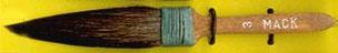 Mack Squirrel Hair Dagger Striper Series 30: Width of Head 12.70 mm, Size - 3