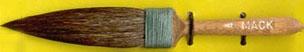 Mack Squirrel Hair Dagger Striper Series 30: Width of Head 14.28 mm, Size - 4