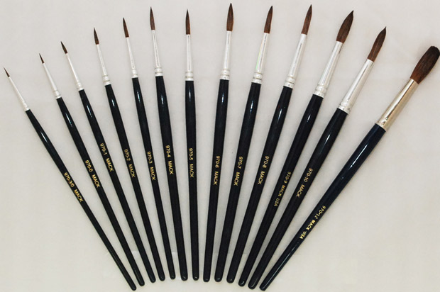 Mack Camel Hair Watercolor Brushes Series 970: Size-3/0