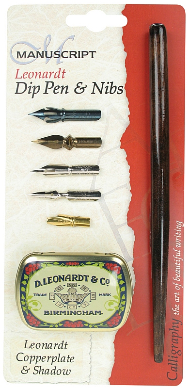 Manuscript Leonardt Dip Pen & Nibs Copperplate & Shadow Set