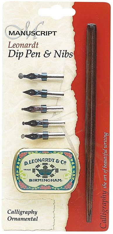 Manuscript Leonardt Dip Pen & Nibs Calligraphy Ornamental Set