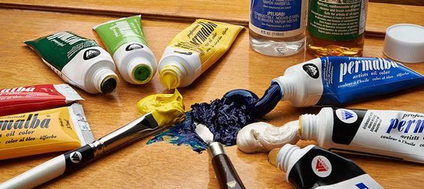 Professional Permalba Black Oil Color: 37ml, Tube