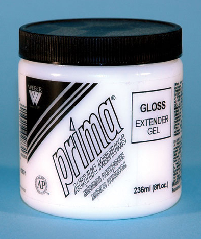 Prima Acrylic Gel Medium Gloss: 236ml, Jar