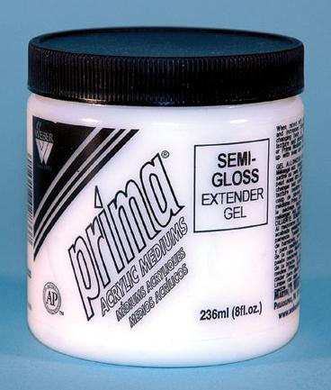 Prima Acrylic Gel Medium - Semi-Gloss Extender: 236ml, Jar