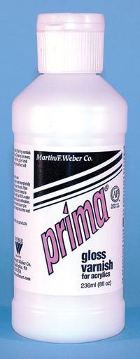 Prima Acrylic Liquid Gloss Varnish: 236ml, Bottle