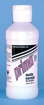 Prima Acrylic Liquid Matte Varnish: 236ml, Bottle