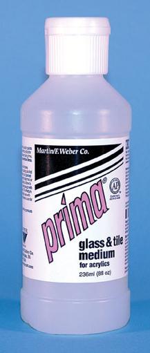 Prima Acrylic Liquid Glass & Tile Medium: 236ml, Bottle
